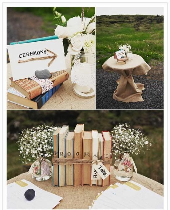 Libros antiguos en tu decoraci n de boda colores de boda - Libros antiguos para decoracion ...