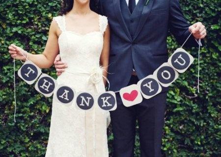boda banderin gracias