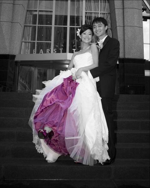 vestido novia cancan color