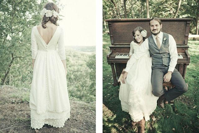 Vestidos de novia estilo hipster