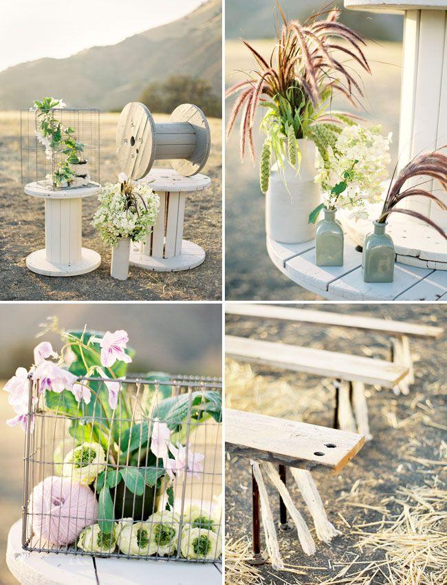 Decora tu boda con bobinas de cable colores de boda - Kabeltrommel deko ...