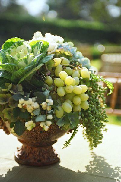 Centros de mesa con frutas colores de boda for Frutas de cristal