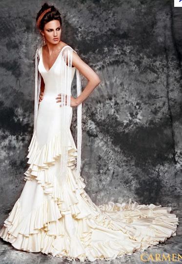 Vestidos de boda de flamenca