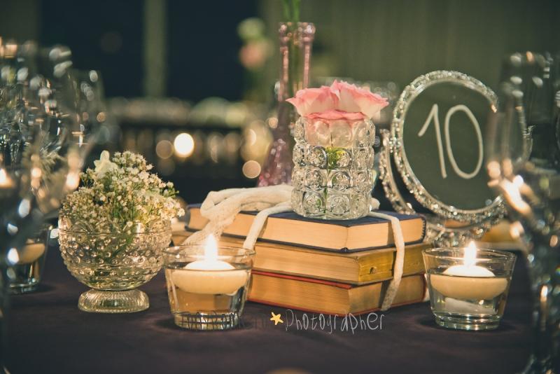 Centros de mesa de espejo en flores para el soy la novia for Espejos para mesa