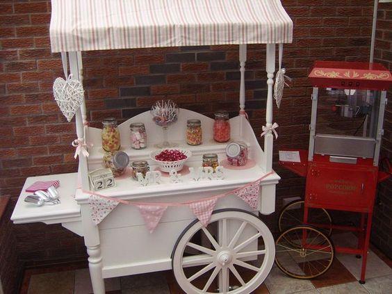 Colores de boda carrito vintage candy bar colores de boda for Carrito bar de madera