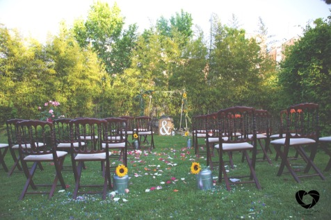 colores-de-boda-decoración-ceremonia-girasoles